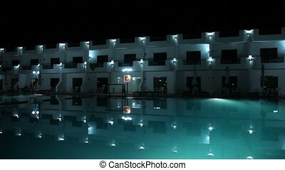 Resort building at night - Resort building in Egypt at night
