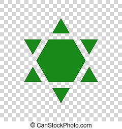 Shield Magen David Star Inverse. Symbol of Israel inverted....