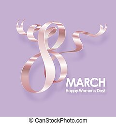 March 8 greeting card. - March 8 International Womens Day...