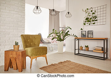 Flat with wooden decorations - Bright and spacious flat with...