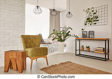 Apartment designed with earthy colours - Apartment with cozy...