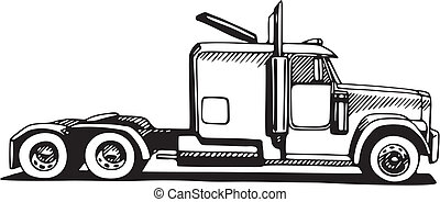 18 wheeler Clipart Vector and Illustration. 768 18 wheeler clip art ...
