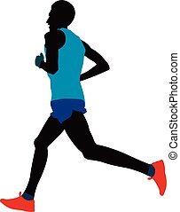 young male athlete runner