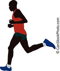 Kenyan athlete runner