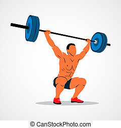 strong man powerlifting - Strong man lifting weights...