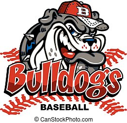 bulldog baseball mascot design for school, college, team or...