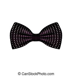 Isolated hipster bowtie on a white background, Vector...