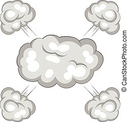 Explosion cloud icon, cartoon style - Explosion cloud icon....