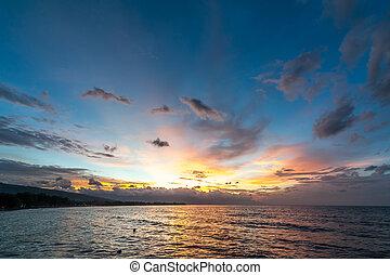 Lovina Beach Sunset - Sunset on Lovina Beach, Bali