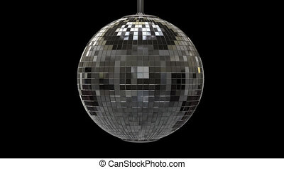 Twisted disco ball with alpha channel