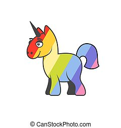 Abstract Colorful Unicorn. Vector.