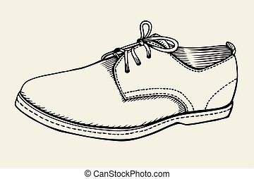 Hand drawn Shoe - Vector illustration Hand drawn Shoe with...