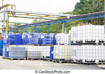 Big Barrels - Chemical Plant, Plastic Storage Drums, Big...