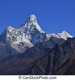 Mount Ama Dablam seen from Khumjung