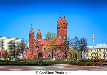 Belarus, Minsk - Church of saint Simon and Helena