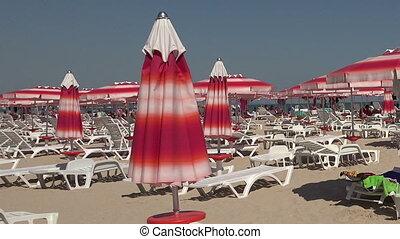The beach in Albena. Resort Spa in Bulgaria. - The beach in...