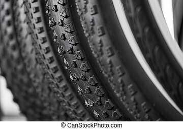 Bicycle tires of different protectors