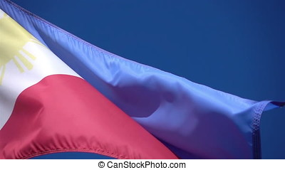 Two videos of Philippines flag in real slow motion - Two...
