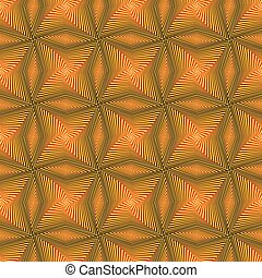 Seamless pattern with rotating yellow shapes - Abstract...