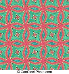 Seamless pattern with rotating colourful shapes - Abstract...