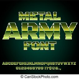 Retro Future Font - Green Military Army Sci-Fi Movies Style...