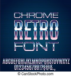 Retro Future Font - Retro Future Chrome Space Sci-Fi Movies...