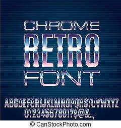Retro Future Font - Retro Future Chrome Space Sci-Fi Movies...