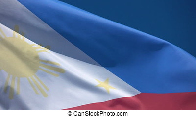 Two videos of Philippines flag in 4K - Two high quality...