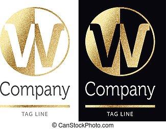 logo-w-2.eps - w golden letter logo