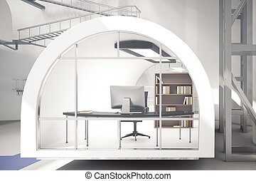 Creative office workplace