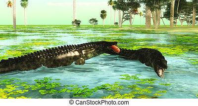 Tropical Uberabasuchus Marine Reptiles - Uberabasuchus...