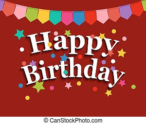 Greeting card with happy birthday festive greetings for a...