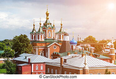 The cityscape of the Kolomna Kremlin - Cathedral of the...