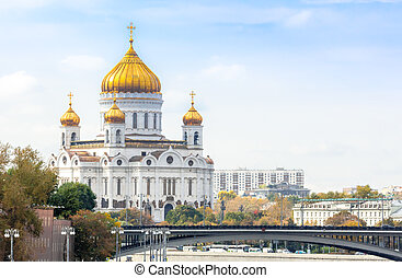 Cathedral of Christ the Saviour in Moscow with Patriarshy...