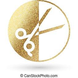 hair-logo-3.eps - beauty logo in golden