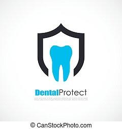 Teeth protection dental logo
