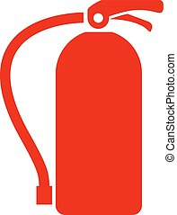 Fire extinguisher vector icon illustration isolated on white...