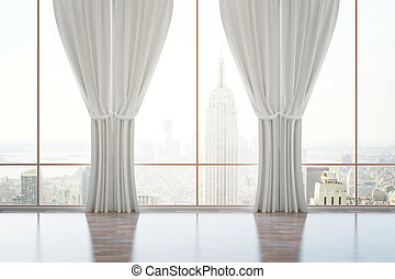 Classic room with curtains
