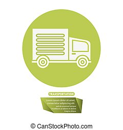 transport truck delivery pictogram vector illustration eps...