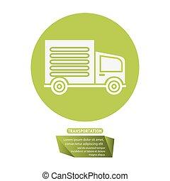 transport truck delivery pictogram vector illustration eps...