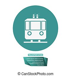 transport funicular cable car passeger pictogram vector...