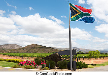 South African winery - Entrance to a South African winery...