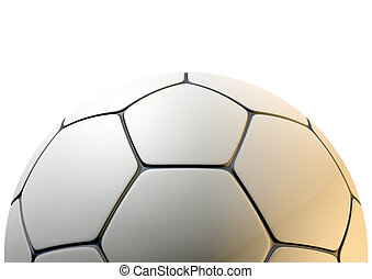 Textured Soccer Ball Closeup - A closeup concept of a white...