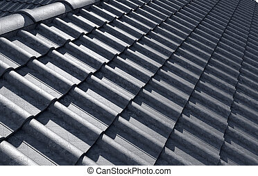 Roof Tiles Design Top - Top view of an intersecting corner...