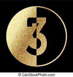 golden-3-1.eps - number 3