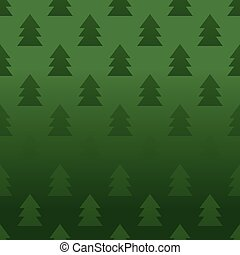 Seamless pattern with pine trees vector illustration. -...