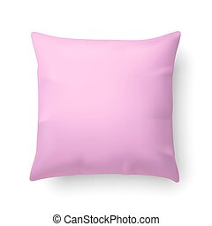Pillow - Close Up of a Pink Pillow Isolated on White...