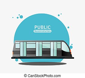 public transport electric train vector illustration eps 10