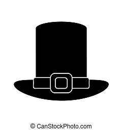 st patricks day hat pictogram vector illustration eps 10