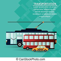 set city public transport vector illustration eps 10